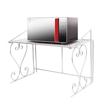 Dazone Metall Mikrowelle Regal Küchenregal Mikrowellenhalter (Weiß)