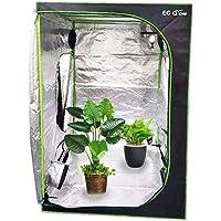 EC Breath Growzelt Growbox Growschrank Gewächszelt Zuchtzelte Zuchtschrank Pflanze Zelt Garten Wachstum Box für Homegrowing, Indoor Pflanzenzucht, Ganzjährige Pflanze, schwarz