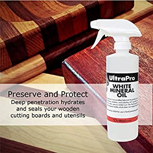 16 oz. Spray Bottle - Food Grade Mineral Oil for Stainless Steel, Cutting Boards and Butcher Blocks, NSF