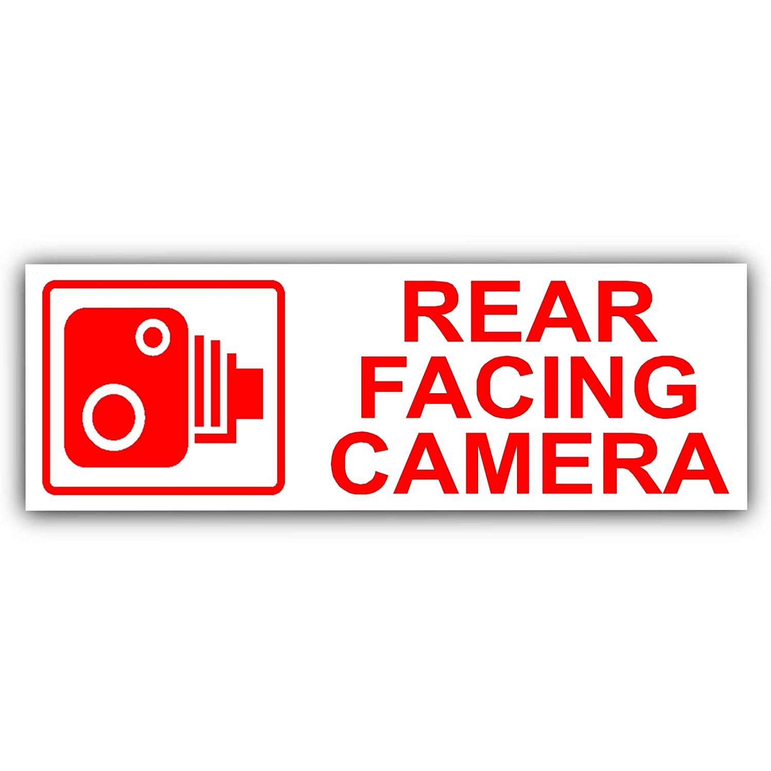 Platinum Place 5 x Rear Facing Camera EXTERNAL Stickers-Car, Taxi, Van, CCTV Signs-Go Pro, Tinted, Warning, Sign, Vehicle, Security, Secure, Protect, Protection