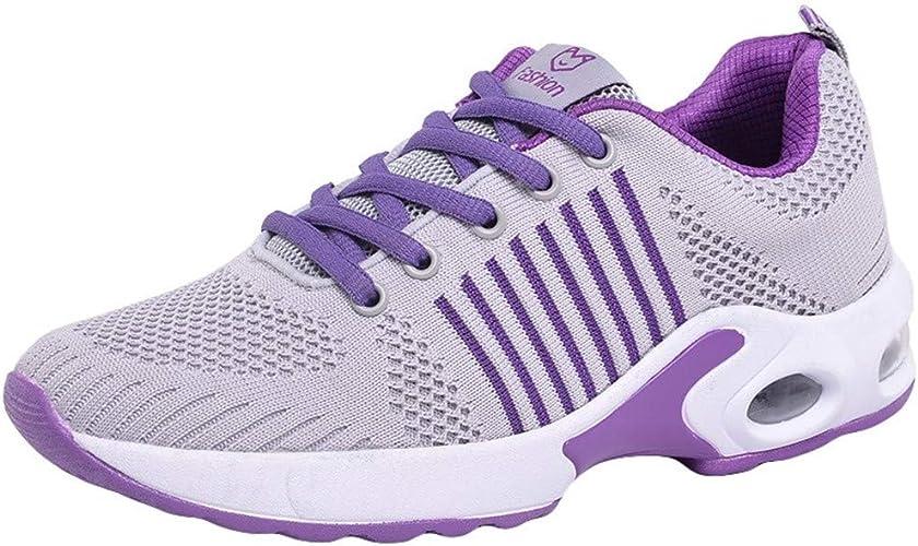 Damen Neu Sneakers Form Plateau Größe Schuhe Walking Trendy Sport Spitze Fitness