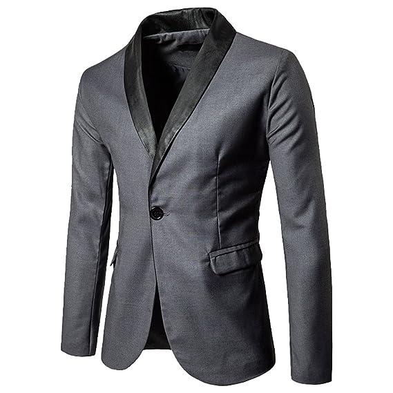 Dihope Homme Costume Fashion Blazer Veste Slim Tailleur OL Jacket Manches  Longues Coat Formel d  c254109dc865