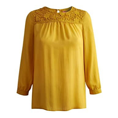6c825f3f221208 Joules Ismay, Womens Lace Smock Top (UK 8): Amazon.co.uk: Clothing