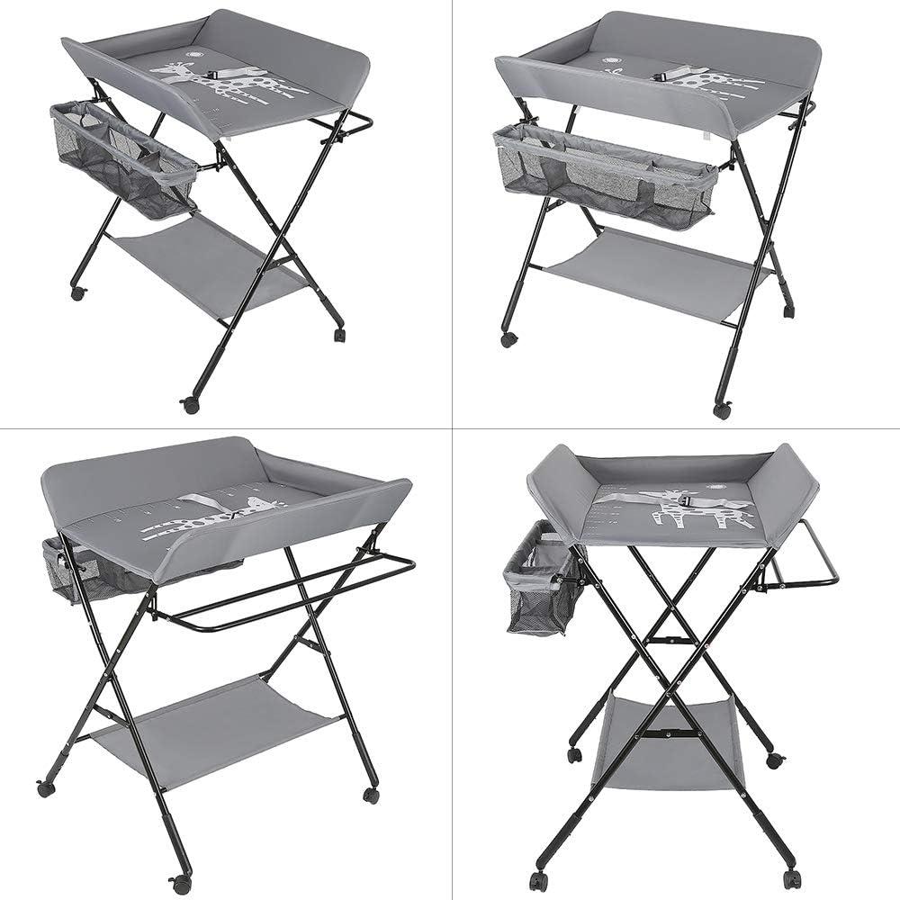 Table à Langer Pliante Table à langer bébé Avec roues Bébé