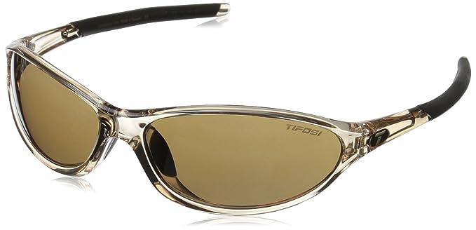 Tifosi Women's Alpe 2.0 Wrap Sunglasses, Crystal Brown, 128 mm