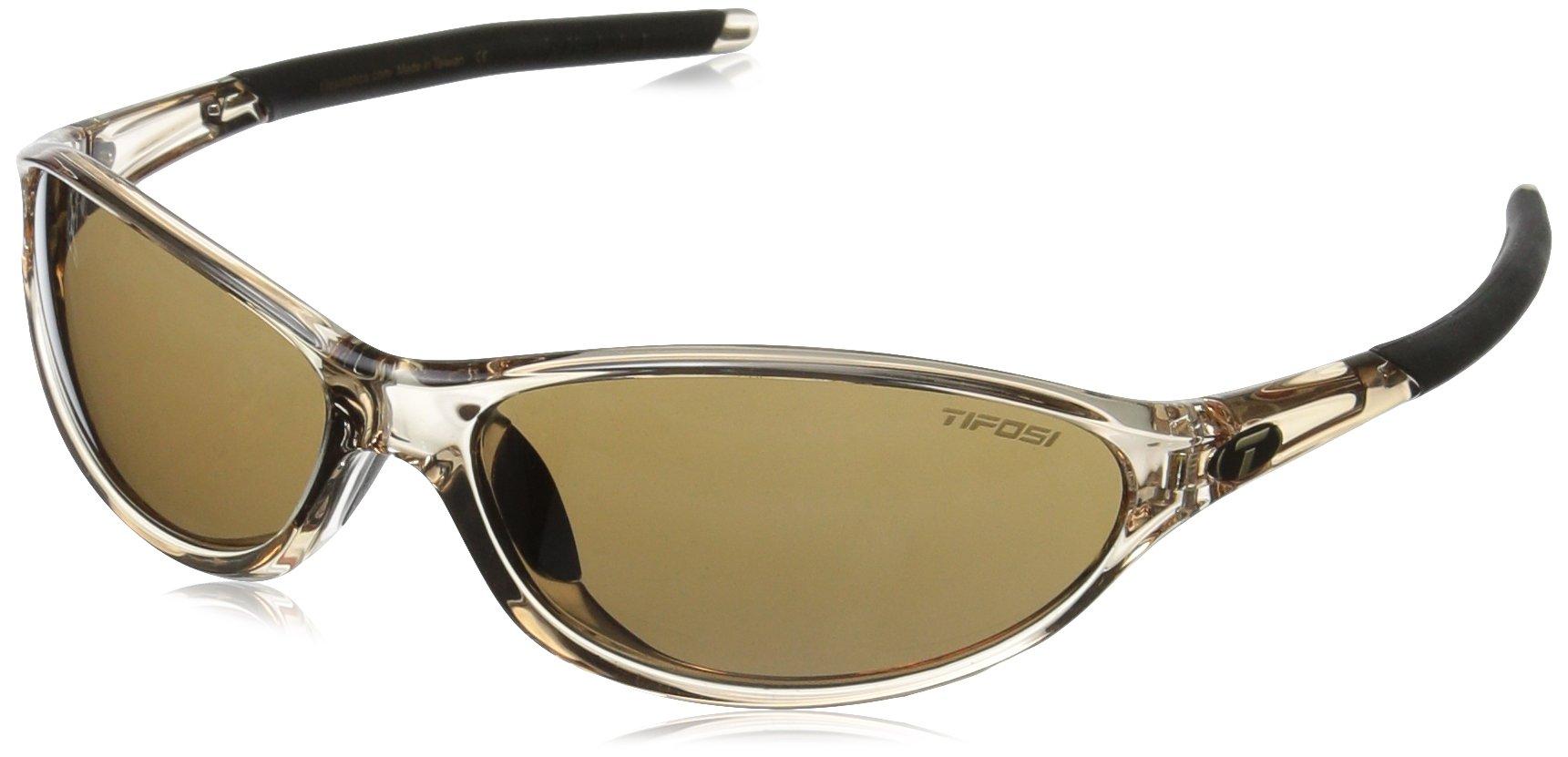Tifosi Women's Alpe 2.0 Wrap Sunglasses Crystal Brown 128 mm