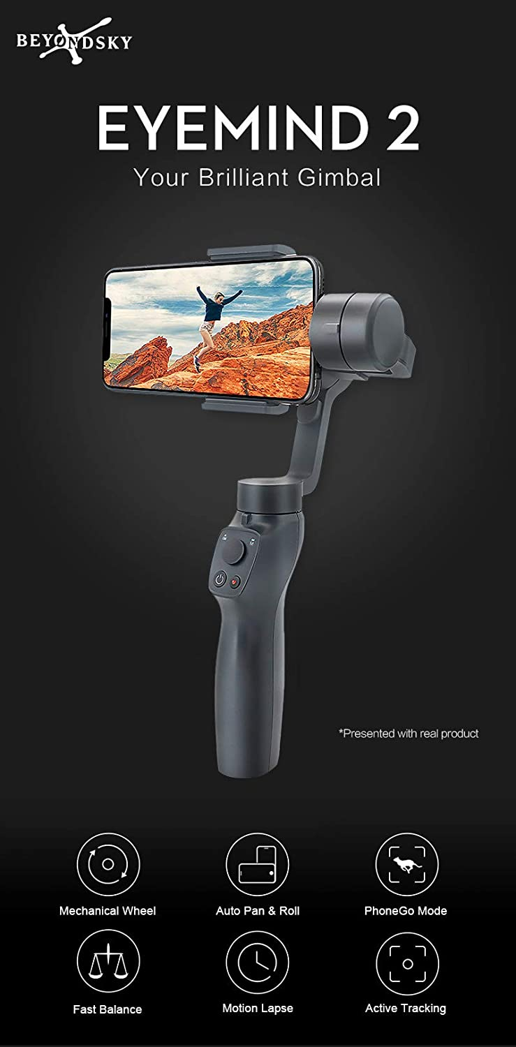 DishyKooker Eyem//ind 2 3-Axis Handheld Smartphone Gimbal Stabilizer Christmas