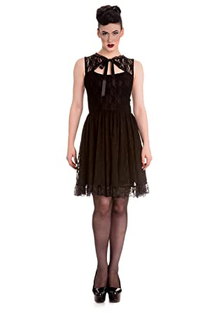 Amazon Hell Bunny Selena Mini Black Gothic Steampunk Dress
