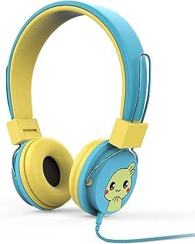 MoKo Auriculares para Niños - Ajustable Headphone Limitador Volumen por Cable (1.5m / 4.9ft), Kid Earphone para iPhone, iPad, iPod, Smartphones Android, PC, Dragon Touch Y88X Kids Tablet, Azul: Amazon.es: Electrónica