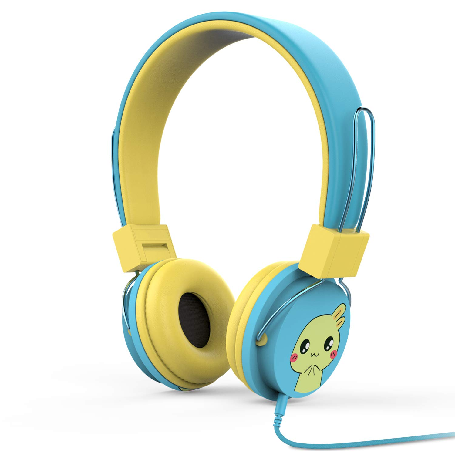 MoKo Kids Headphones, On-Ear Headphones Volume Limiting Wired (1.5m/4.9ft) Headset with SharePort for Children, Fits LeapFrog, Orbo Jr, Dragon Touch Tablets, Smartphones, Laptop, BLUE