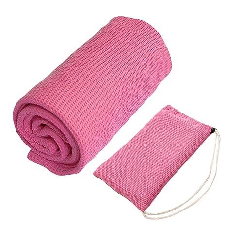 Amazon.com : XL Yoga Towel 100% Microfiber Hot Yoga Mat ...