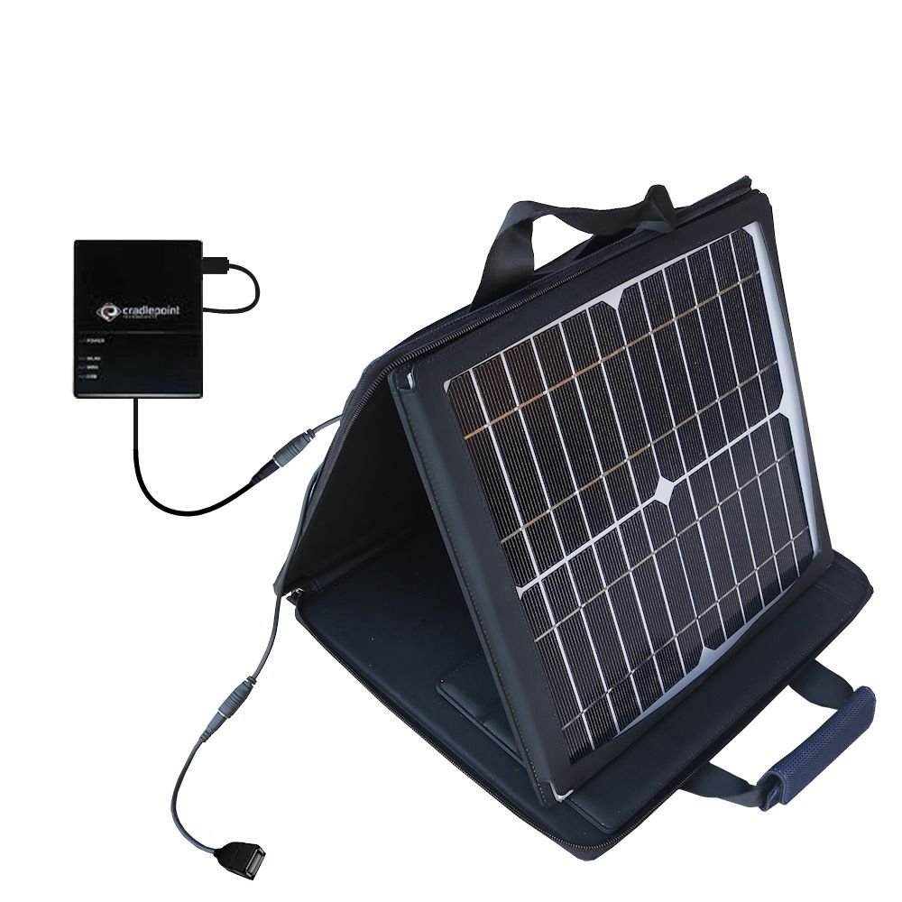 Gomadic SunVolt Powerful and Portable Solar Charger suitable for the Cradlepoint CTR350 Cellular Travel Router - Incredible charge speeds for up to two devices by Gomadic