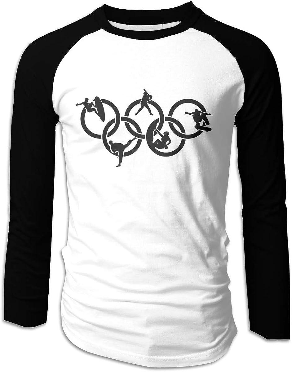 HRSHEN Funny Tokyo Olympic Games Cotton Baseball T Shirt for Boyfriend Black