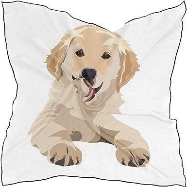 Soft Scarf Retrivier Dog Print Animal Shawl Head Neck Accessory