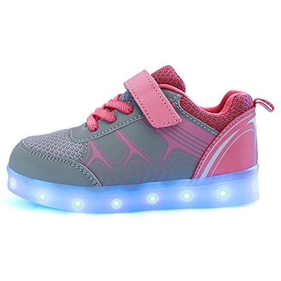 DoGeek LED Schuhe Kinder Damen 7 Farbe USB Aufladen Leuchtend Sportschuhe LED Kinder Farbwechsel Sneaker Turnschuhe für Herre