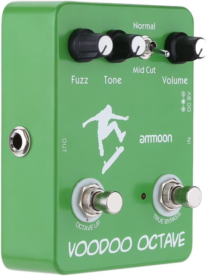 ammoon ap-12 Voodoo Octave Fuzz Effect Pedal guitarra efectos True ...