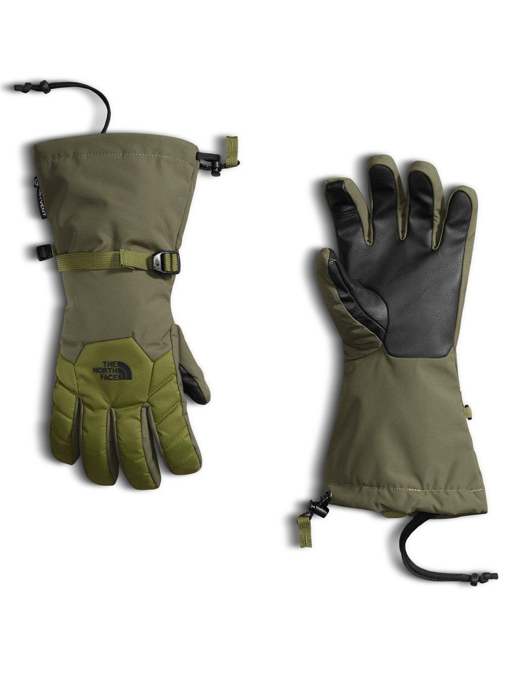 The North Face Boys' Revelstoke Etip Glove - burnt olive green/mayfly green, m