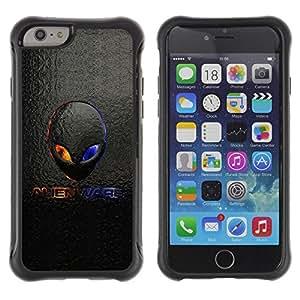 Suave TPU Caso Carcasa de Caucho Funda para Apple Iphone 6 / Alien Logo / STRONG