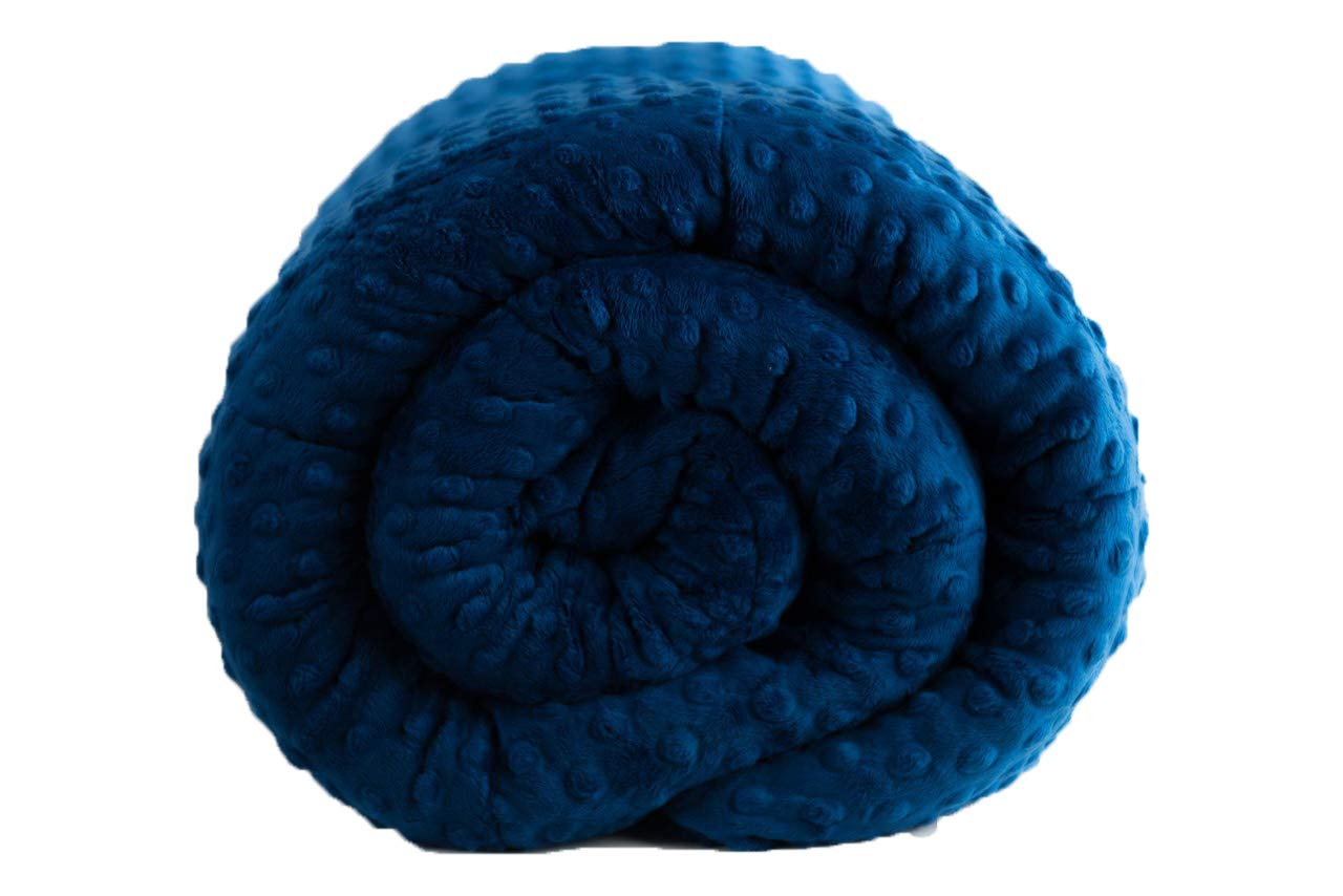 Weightedブランケットinブルー LG-42x72-15 ブルー MINKY-BL B01HLRPLH6  LG-42x72-15