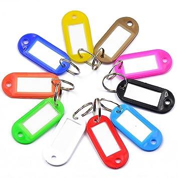 Homyl 10er Set Farbig Schlüsselschild Schlüsselanhänger ...