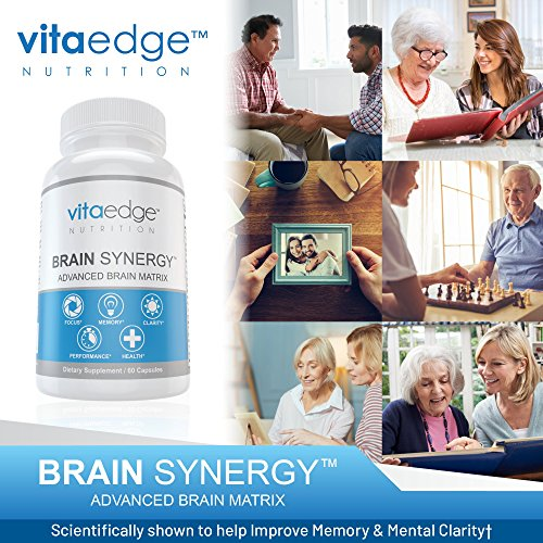 VITAEDGE Brain Supplement - All Natural Nootropic Pills for Memory, Focus, Clarity and Concentration - Formulated with Dmae, Gaba, Green Tea Extract, Bacopa Monnieri for Women or Men by VITAEDGE NUTRITION (Image #4)