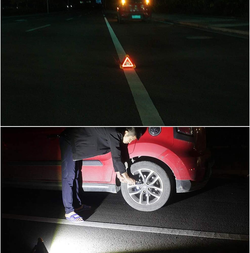 USB COB Slim 410 Lumen Wiederaufladbare Handlampe Arbeitslampe f/ür Haushalt Werkstatt Auto Camping Notfall Multifunktionale LED Cob Licht