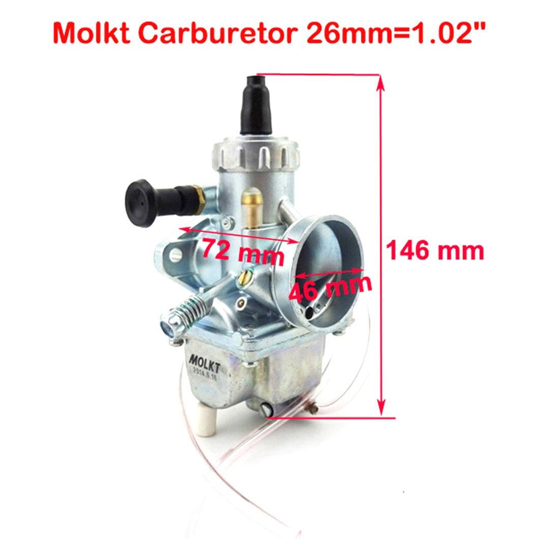 XLYZE Carburateur Cab 26/mm pour moto 125cc 140cc 150cc