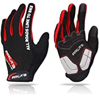 Arltb 3 Size Bike Gloves 3 Colors Bicycle Cycling Biking Gloves Mitts Full Finger Pad Breathable Lightweight for Bike Riding Mountain Bike Motorcycle Free Cycle BMX Lifting Fitness Climbing