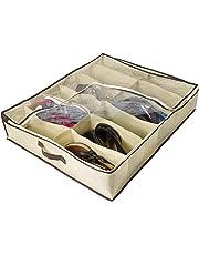 Lorsoul 2pcs / Set 12 cuadrículas Debajo de la Cama Organizador de Zapatos para niños Adultos