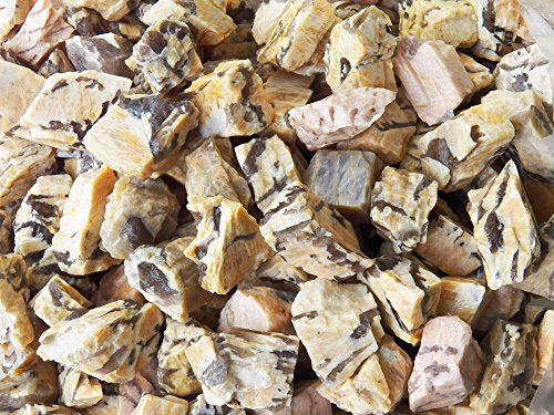 The Fundamental Rockhound Products: Rough PUNJABI STONE Bulk Rock for Tumbling Metaphysical Gemstones Healing Crystals Wholesale Lot ... Natural Mixture of Moonstone and Smoky Quartz (5 lb)