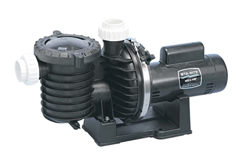 Pentair Sta-Rite P6E6E-206L Max-E-Pro Energy Efficient Single Speed Full Rated Pool and Spa Pump, 1 HP, 115/230-Volt