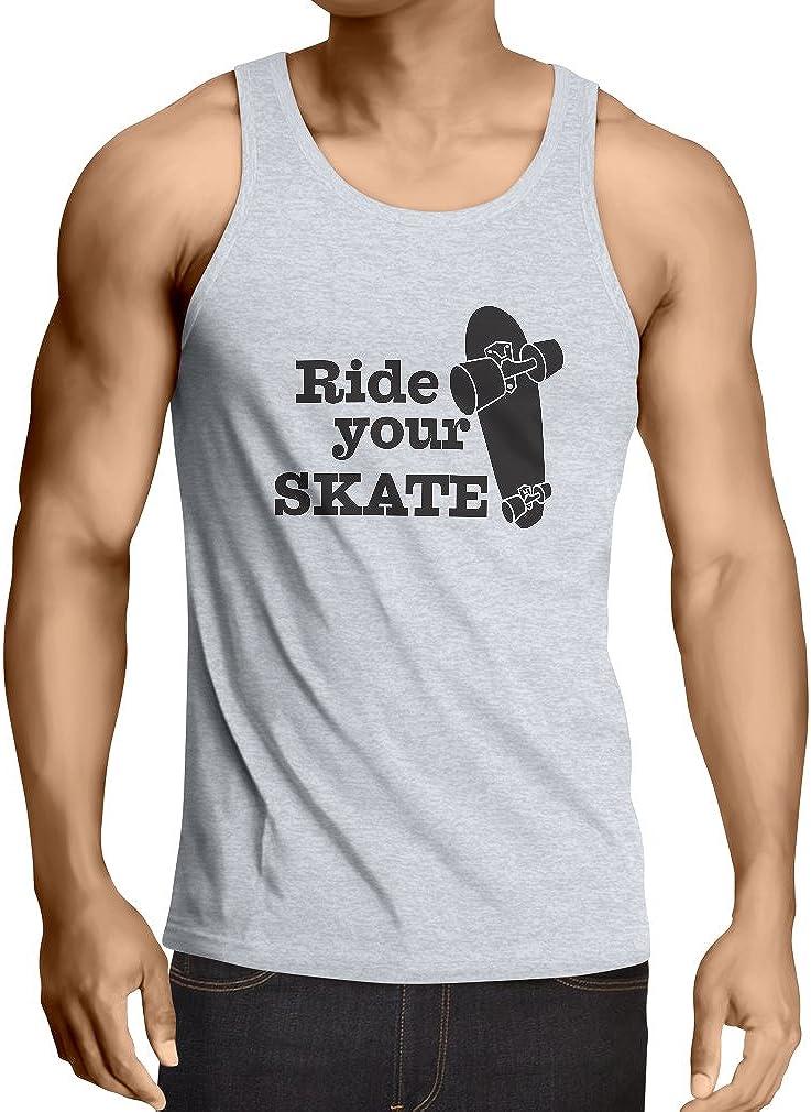 Camisetas de Tirantes para Hombre Ride Your Skate! Streetwear, Urban Clothing, Skateboarding Clothes, Skating Gear: Amazon.es: Ropa y accesorios