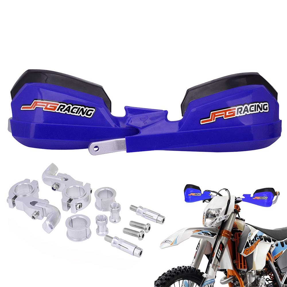 pour Dirt Bike KTM Honda Yamaha Kawasaki Suzuki Motocross Enduro Supermoto JFGRACING Prot/ège-Mains de Moto universels pour Guidon 7//8 et 1//8