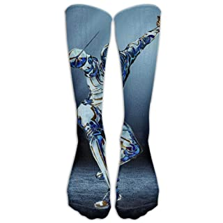 Fencing Combat Unisex Fashion Crew Knee High Socks 19.68 in/50 cm