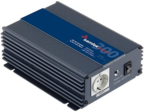 Samlex PST-30S-12E PTS Series Pure Sine Wave DC-AC Power Inverter, 12 Volts, 300W Continuous Power Output, 500W Surge Power Output, 230VAC Output Voltage, Low battery voltage alarm