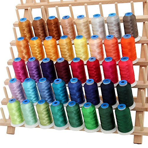40 Cone Rayon Embroidery Thread Set - Set B Jewel Colors - 1