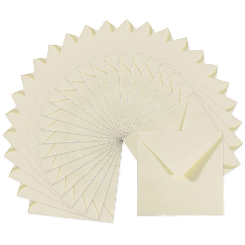 Biglietti Coordinati Disponibili Buste Quadrati Piccoli Florence di Vaessen Creative per Biglietti di Auguri Bianche Set di 25