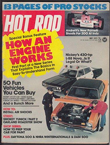 HOT ROD Andretti Parnelli Indy VW Smokey Yunick Oakland Roadster + 5 1973