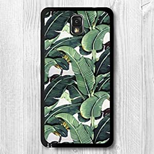 Samsung Galaxy Note 4 Case Set, Banana Tree Leaves Patterned Protective Phone Case For Galaxy Note 4 + Screen Protector + Earphone Anti Dust Plug + Retail Package