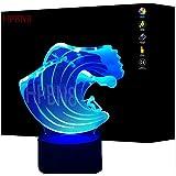 3D Surf ilusión Optica Lámpara Luz Nocturna 7 Colores Cambiantes Touch USB de Suministro de Energía