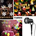 Konesky Projector Lights,Waterproof Projection Lamp for Christmas Halloween Wedding Party Wall Decoration