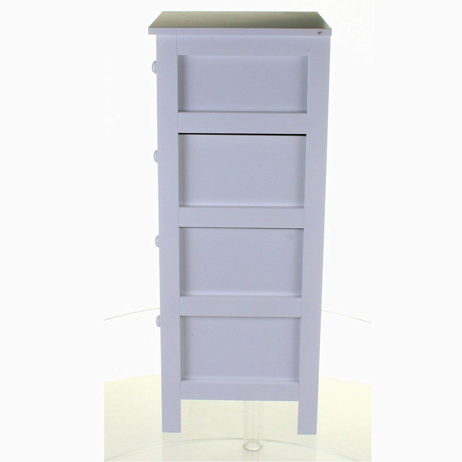 Marko Bathroom White Wooden 4 Drawer Chest Storage Unit Cupboard Dreamgenii Pregnancy And Feeding Support Pillow 933928 Draw Free Standing