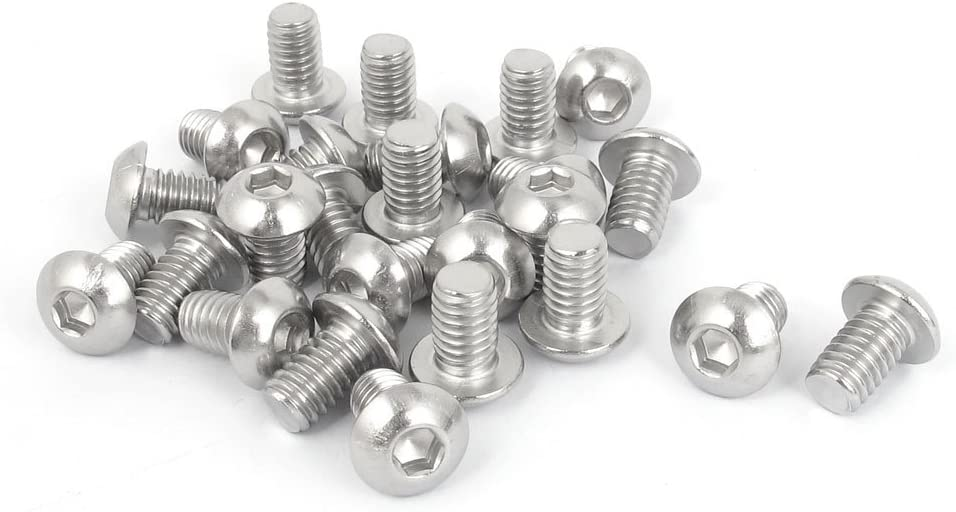 5//16 Inch-18x1//2 Inch Hex Socket Button Head Bolts Screws 25pcs