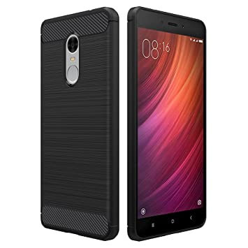 Simpeak Funda Compatible Xiaomi Redmi Note 4 (5,5 Pulgadas), Funda Redmi Note 4 Carcasa Redmi Note 4 Funda/Note 4X Gel Silicona TPU Case, Negro