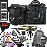 6Ave Nikon D850 DSLR Camera (Body Only) 1585 International Model + Sigma 12-24mm f/4.5-5.6 DG HSM II Lens (For Nikon) Bundle