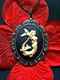 Gothic Steampunk Lady Ness Siren Mermaid Cameo Charm