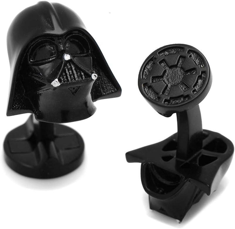 Star Wars Gemelos Darth Vader 3D con logo imperial negro mate, en caja de regalo: Amazon.es: Joyería