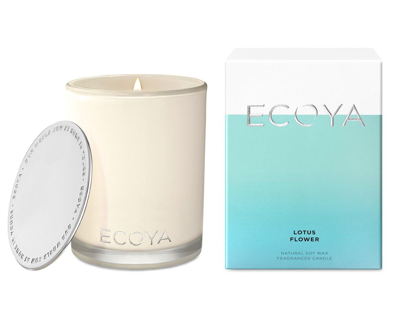 Ecoya Madison Jar Scented Candle in Lotus Flower Fragrance