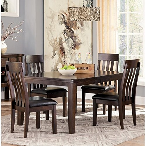 Ashley Haddigan 5 Piece Dining Set in Dark Brown