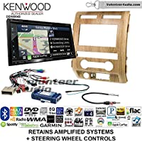 Volunteer Audio Kenwood Excelon DNX694S Double Din Radio Install Kit with GPS Navigation System Android Auto Apple CarPlay Fits 2009-2010 Ford F-150 (Ash Satin)